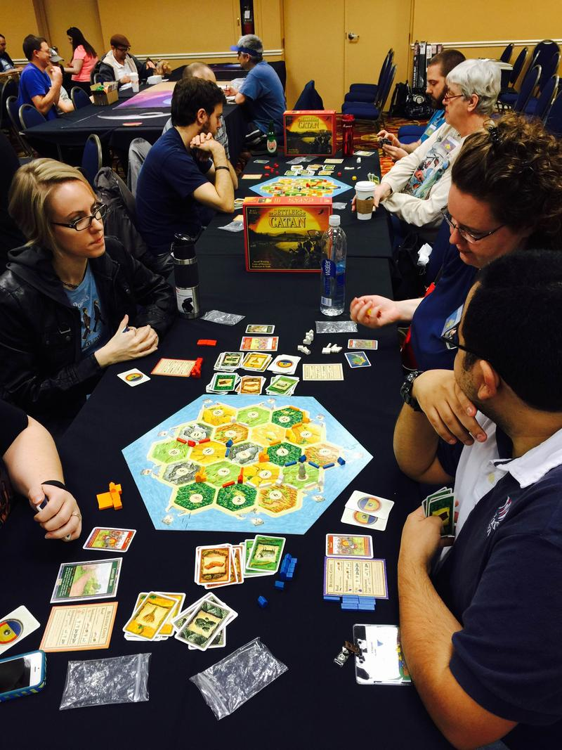 Participants in the Settlers of Catan Tournament
