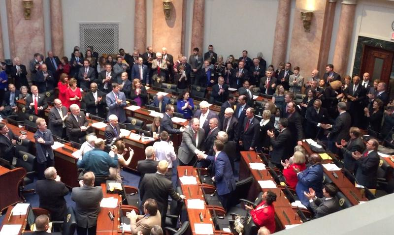 Rep. Jeff Hoover (R-Jamestown) enters the Kentucky House of Representatives as the first Republican speaker of the house in nearly 100 years.