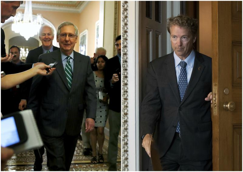 Sen. Mitch McConnell (R-Kentucky) and Sen. Rand Paul (R-Kentucky).