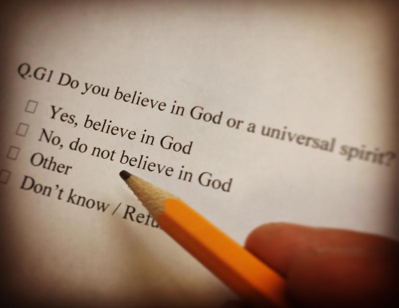 A 2014 Pew Religious Landscape question.