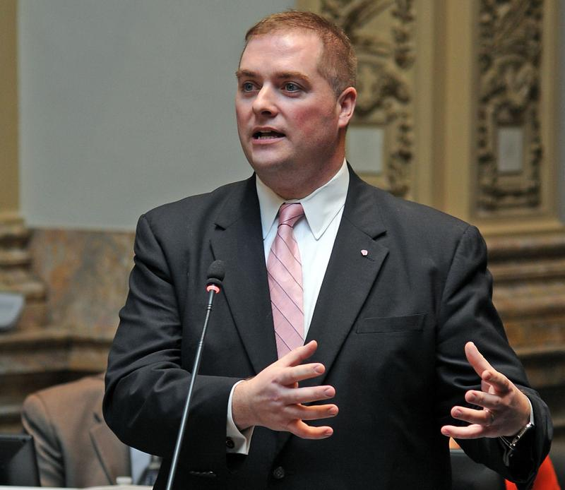State Sen. Whitney Westerfield, R-Hopkinsville, on the Kentucky Senate floor.
