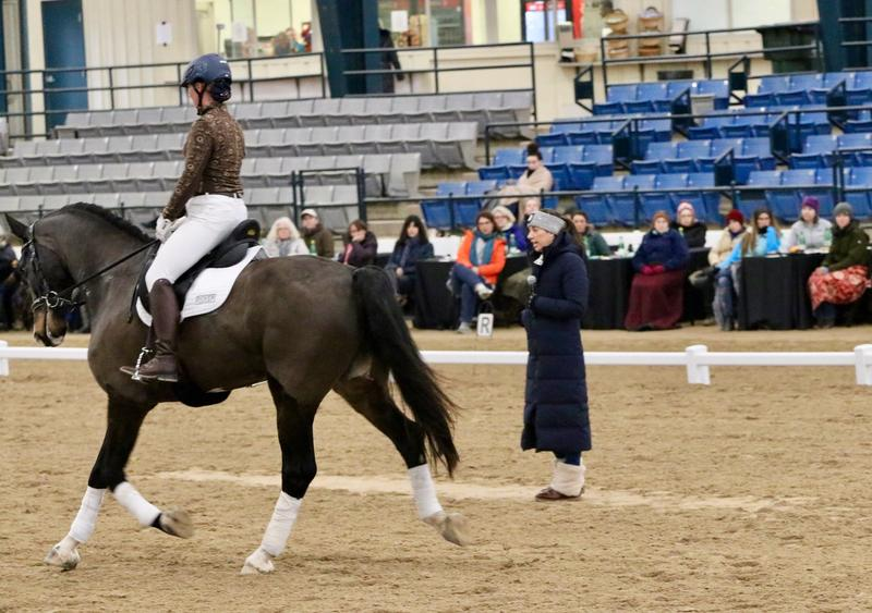 Charlotte Dujardin provides instruction during her two day stay at the Kentucky Horse Park