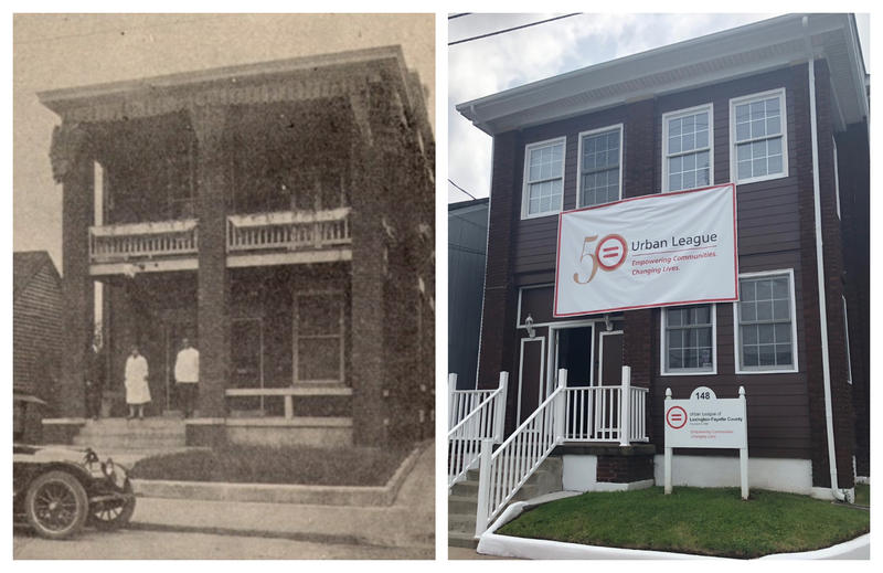 Lexington's Urban League headquarters in 1925 alongside a current image of the building on 148 DeWeese Street on May 17, 2018. The second is the