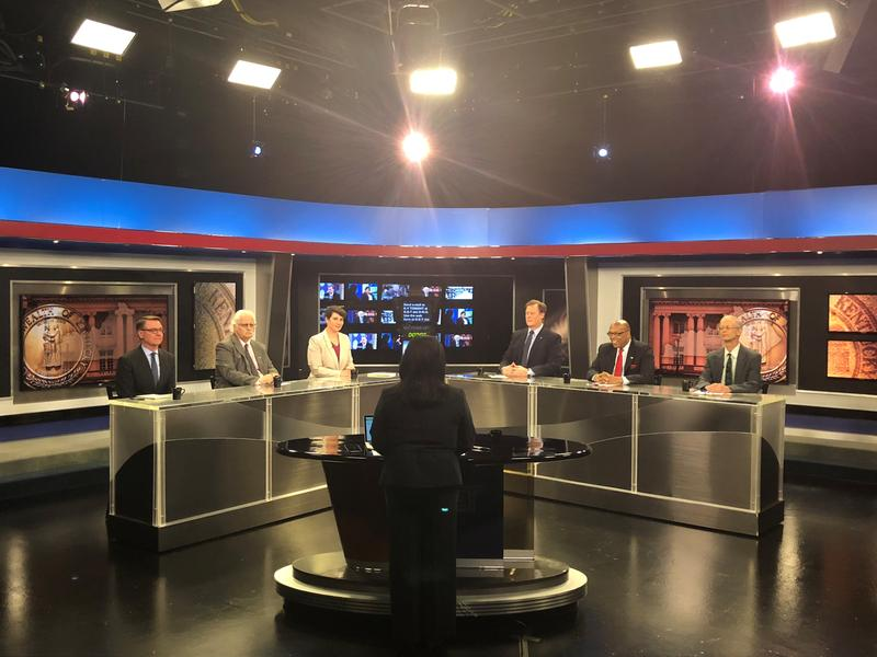 The six Democratic candidates for 6th District Congressional seat debated healthcare, opiods, marijuana, and party loyalty during an hour-long forum on KET May 14, 2018.
