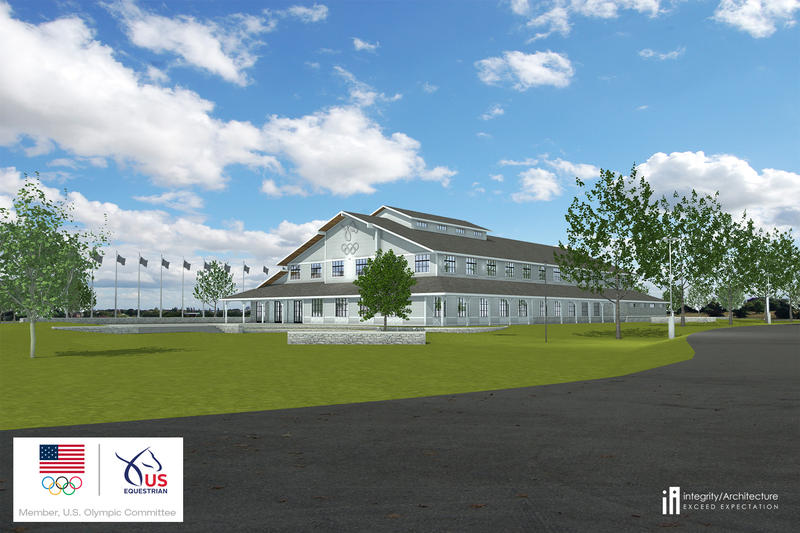 Artist's Rendering Of New USEF Headquarters Building