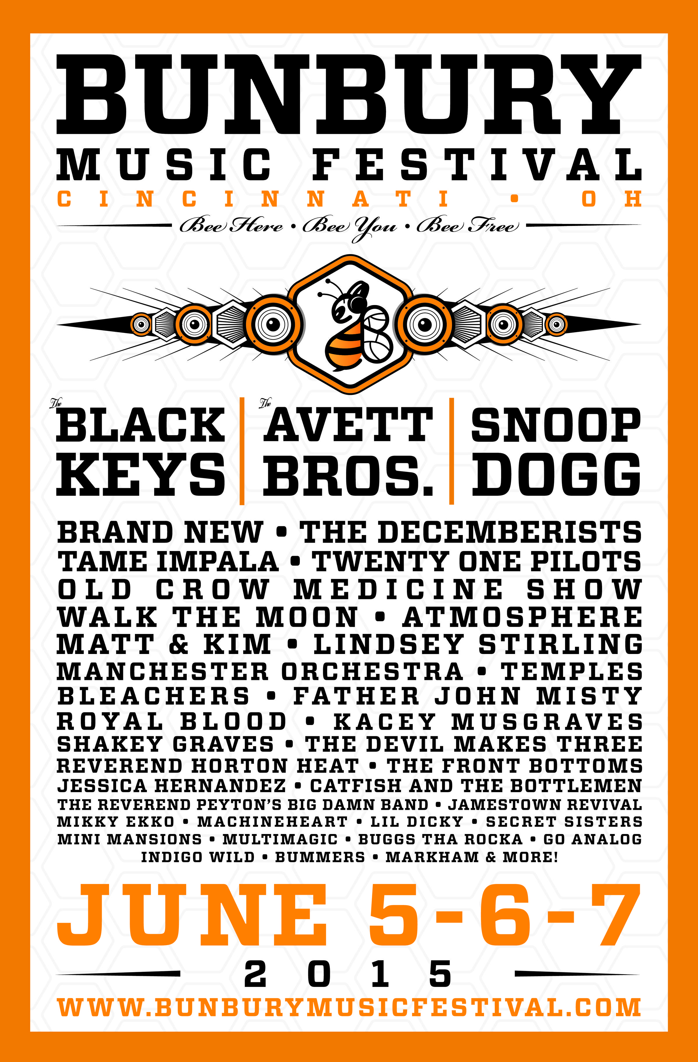 Bunbury Music Festival Announces 2015 Artist Lineup The