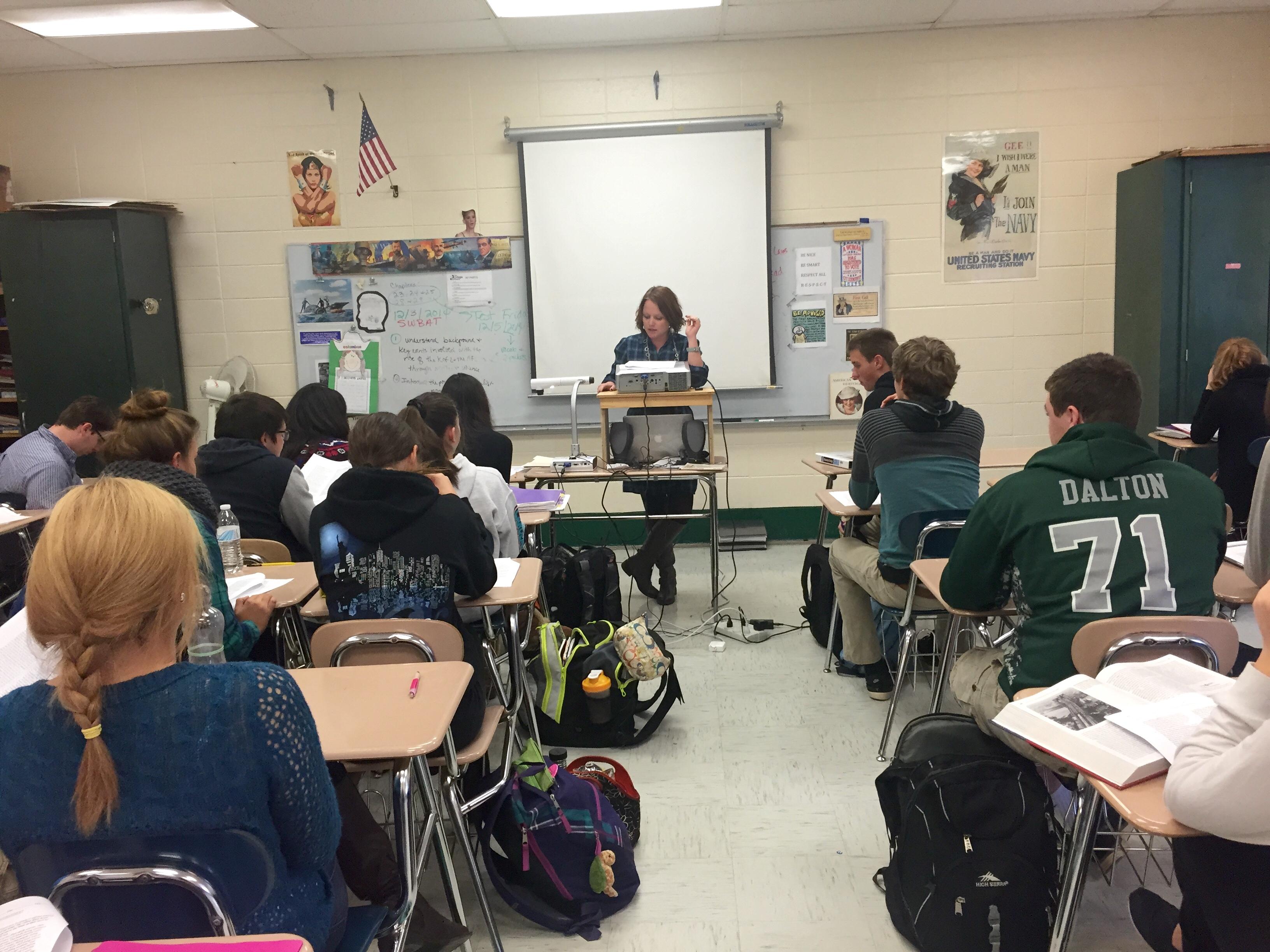 teacher and class clipart