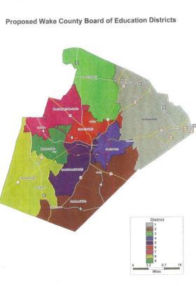 Proposed Wake County Board of Education Districts