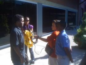 WUNC's Youth Radio Club on the job