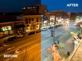 Cree's LED streetlights on Franklin St. in Chapel Hill
