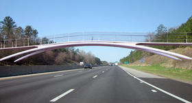 An artist rendering of the ATT bridge over I-40.