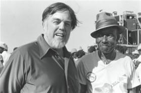 Alan Lomax with James (Son) Thomas, Delta Blues Festival, Greenville, Mississippi, 1979. Photo by Bill Ferris.