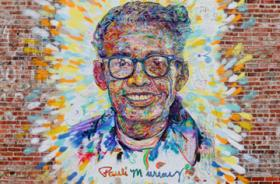 Pauli Murray mural in downtown Durham