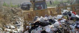 Trash at a state landfill.