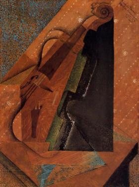 'The Violin' painting by Juan Grix
