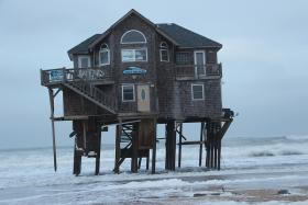 A vacation home on the Outer Banks after super-storm Sandy.