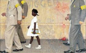 Rockwell, `The Problem We All Live With,` 1963, oil on canvas, 36 x 58in., Illustration for Look, Jan. 14, 1964
