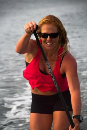 Two-time World Champion paddleboarder Candice Appleby from California, sports