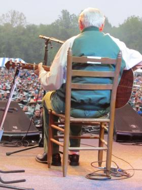 David Holt took this photo of Doc Watson's final Merlefest performance in 2012. Watson died a month later.