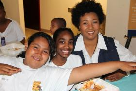 Mae Jemison and Safety Club Kids