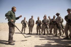 Marines in Afghanistan receive counter IED training, soldier