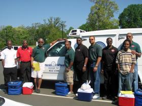 Meals on Wheels volunteers in Wake County.