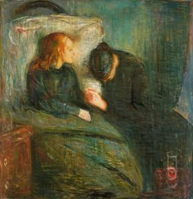 'The Sick Child' painting by Edvard Munch