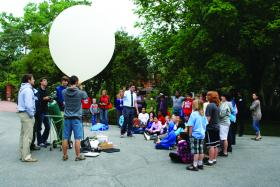 At the NC Science Festival last year, families gathered to learn about a weather balloon.