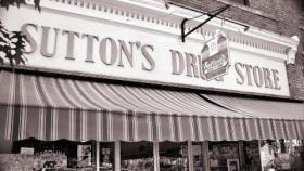 Sutton's Drug Store in downtown Chapel Hill.