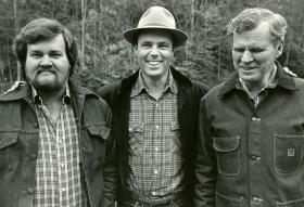 Merle Watson, David Holt, and Doc Watson.