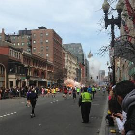 Two bombs exploded near the finish line at the Boston Marathon on Monday.