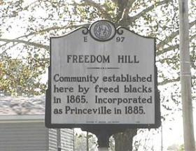 Freedom Hill in Princeville, NC