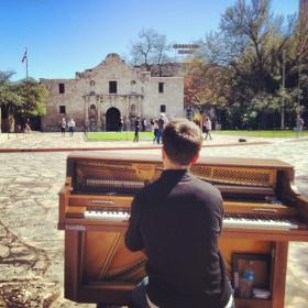Photo: Dotan Negrin at the Alamo