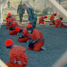 Photo: Camp X-Ray in Guantánamo Bay, Cuba