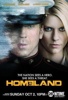 Promotional poster for Homeland TV series' first season.