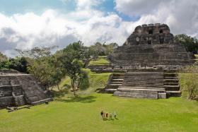 Patricia McAnany researched Mayan ruins in Belize.  The Xunantunich ruins of western Belize are pictured above.
