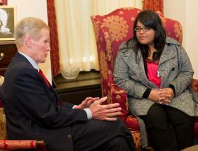 Photo: Daniela Pelaez met with Florida Sen. Bill Nelson