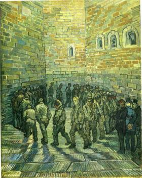 Painting: Prisoners Exercising by Vincent van Gogh