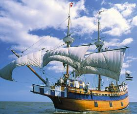 The Elizabeth II historical ship is a main attraction at Roanoke Island Festival Park.