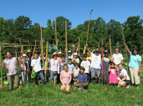 Some of the farmers at Transplanting Traditions.