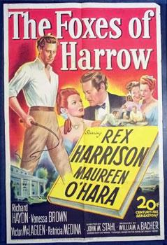 The film adaptation of Frank Yerby's 1946 best-selling novel, The Foxes of Harrow.