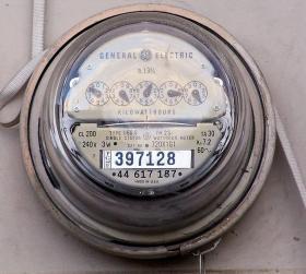 Electric power meter, energy