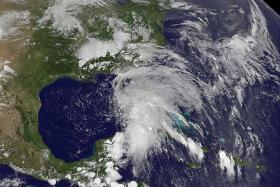 Tropical Storm Andrea as it moved over Florida and toward North Carolina.