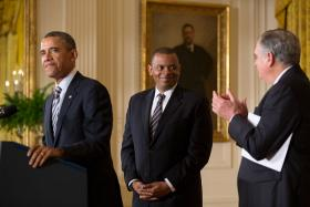 President Obama and Anthony Foxx