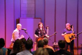The Indigo Girls with Eric Hodge on Last Motel, at Manifold recording.