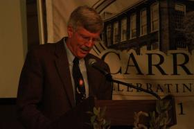 Jay Bryan speaking at the Carrboro Centennial.