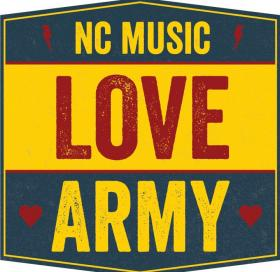 The North Carolina Music Love Army Logo.