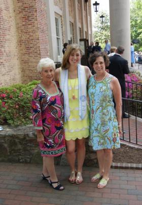 Three generations of women wearing clothing bought at Smitten Boutique.