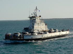One of the ferries in operation along North Carolina's coast