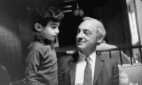 Photo: Daniel Bellow pictured with his father Saul in 1969